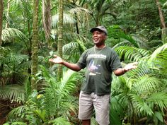 "The Tobago Main Ridge Forest Reserve is on record as the oldest legally protected forest reserve geared specifically towards a conservation purpose. It was established on April 13th, 1776 by an ordinance which states in part, that the reserve is ""for the purpose of attracting frequent showers of rain upon which the fertility of lands in these climates doth entirely depend.""  Newton George gives a tour in this photo."