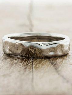 Textured Men's Wedding Bands by Ken & Dana Design - Nando