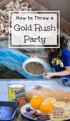 Ideas for having a Gold Rush Party at home including meal and music suggestions as well as fun and educational activities for kids. Educational Activities For Kids, Fun Activities, Mad Tea Parties, Tea Party, Panning For Gold, Kids Birthday Themes, Winter Wonderland Party, Golden Birthday, Le Far West