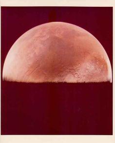 Mars seen by the Viking 1 orbiter, June 1976. | 39 Jaw-Dropping Vintage Nasa Photographs