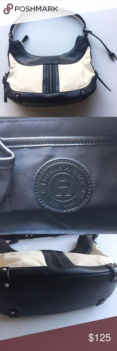 """Ettiene Aigner Purse NWOT 7.5"""" tall in the middle, 13"""" wide 4.5"""" deep. questions welcome, all offers considered! Ettiene Aigner Bags Satchels"""