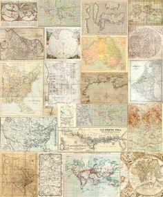 Behang Travel Memories Old Maps
