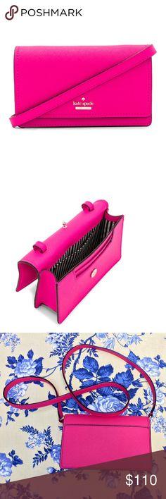 Kate Spade ♠️ Pink Crossbody Handbag NWT! Cute pink crossbody by Kate spade brand new. See pics for description kate spade Bags Crossbody Bags