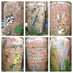 Our Native Plant Demonstration Garden boasts six gorgeous painted rain barrels to collect and store rainwater for watering all of the plants. Description from basinalliance.org. I searched for this on bing.com/images