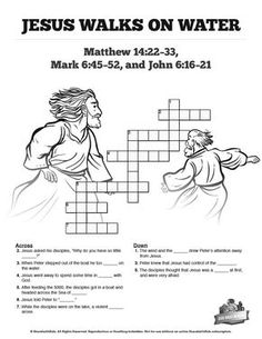 This collection of free printable Sunday School crossword puzzles for kids are fun for students of all ages. Each puzzle focuses on a unique bible lesson and is a must-have resource for your Sunday School class! Bible Activities For Kids, Sunday School Activities, Bible Lessons For Kids, Sunday School Lessons, Sunday School Crafts, Bible For Kids, Bible Games, Peter Walks On Water, Jesus Walk On Water