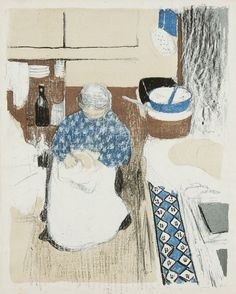 Edouard Vuillard - A Cook - housekeeper (La Cusinière), 1899  My Dad loved this picture.  I could never find him a print.  He'd have loved the internet.