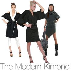 """The Modern Kimono"" by luisaviaroma ❤ liked on Polyvore"
