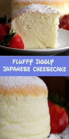 Fluffy Jiggly Japanese Cheesecake – Hot From My Oven Fluffy Jiggly Japanese Cheesecake – Heiß aus meinem Ofen Japanese Jiggly Cheesecake Recipe, Easy Cheesecake Recipes, Dessert Recipes, Best Fluffy Cheesecake Recipe, Chiffon Cheesecake Recipe, Japanese Fluffy Cheesecake, Japanese Cheescake, Japanese Pastries, Japanese Cake