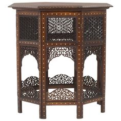 19th Century Anglo Indian Or Syrian Octagonal Folding Table