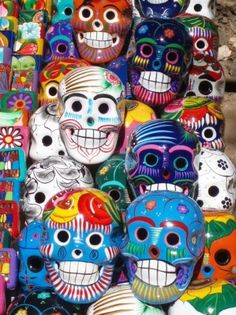 Colorful Mexico indeed -- #Dayofthedead skulls