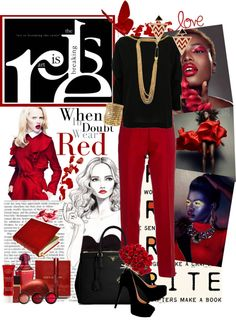 """""""When in doubt wear red."""" by kayechristilmiguelle ❤ liked on Polyvore"""