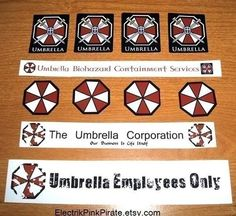 Resident Evil Umbrella Corporation Business Package of 12