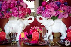 love these bollywood inspired centerpieces