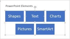 Convert Bulleted Text to SmartArt in #PowerPoint 2016