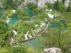 A beautiful Plitvice lake in summer, Croatia situated in Dinar Alps Mts