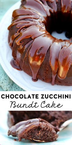 The Best Chocolate Zucchini Bundt Cake Mini Desserts, Just Desserts, Delicious Desserts, Dessert Recipes, Homemade Desserts, Plated Desserts, Zucchini Zoodles, Zucchini Cake, Zuchinni Cake Recipes