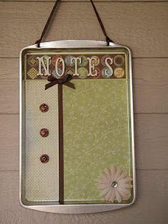 Cookie Sheet Memo Board