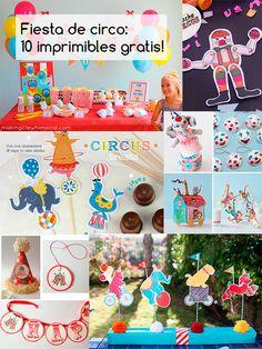 10 imprimibles gratis para una fiesta de circo