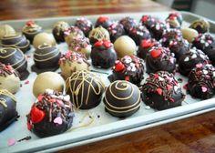 Valentine's Chocolate Cake Truffles