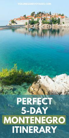 5 Days in Montenegro Itinerary | Volumes & Voyages Montenegro Budva, Montenegro Travel, Adventures Abroad, European Travel, Travel Guides, Croatia, Travel Inspiration, Travel Destinations, Wanderlust