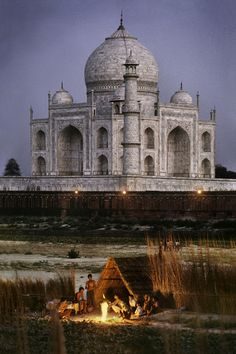 The other side of the Taj Mahal, India ~ Photo by...Steve McCurry© 1996.