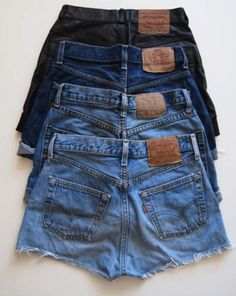 Buckle up with jeans shorts in different denim colours