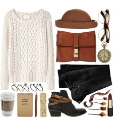 """""""Take a break"""" by jellytime on Polyvore... I have that sweater!!"""