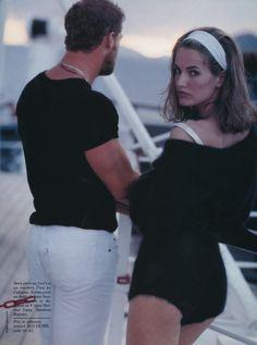 Karen Mulder | Photography by Robert Erdmann | For Glamour Magazine France | June 1990