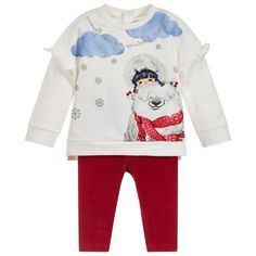 2 Piece Baby Trousers Set for Girl by Mayoral. Discover more beautiful designer Outfit Sets for kids online Ice Land, Dubai Fashion, Tops For Leggings, Girls Rompers, Kids Online, Japanese Fashion, Kids Wear, Outfit Sets, Girl Outfits