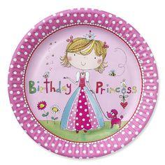 Birthday Princess Party Plates