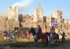 ArtStation - Alfonso XI, El Justiciero (The Avenger), Rocío Espín Piñar Medieval Knight, Medieval Fantasy, Fantasy World, Fantasy Art, Medieval Drawings, Early Middle Ages, Medieval Times, Knights Templar, Knight