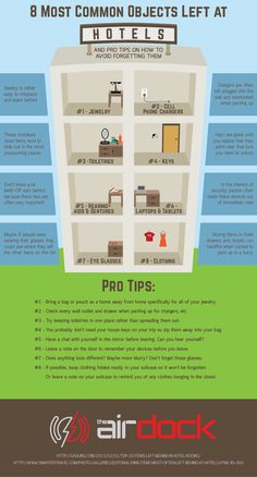 8 Most Common Objects Left at Hotels #infographic #Hotel #Travel