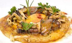 Receta de Tarta de patata, setas y yema