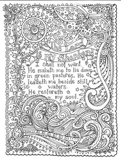 Serenity Prayer Coloring Pages