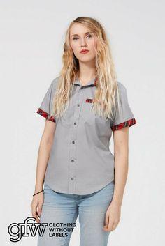 ebd511883cf57 GFW Clothing Short Sleeved Grey Shirt - Androgynous