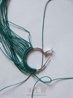 Freestyle 第7步 Macrame Earrings, Macrame Jewelry, Micro Macrame, Petra, Turquoise Necklace, Closure Weave, Strands