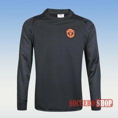 Top Quality Manchester United Newest Velour Black Sweatshirt 2016 2017 Champions League Thailand For Sale