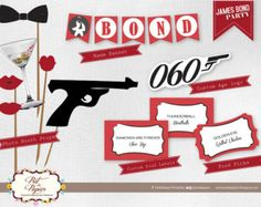 James Bond Party Printable set