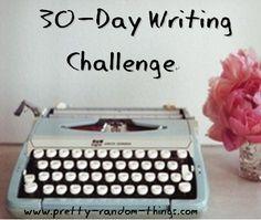 30-Day Writing Challenge | Pretty.Random.Things.