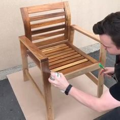 Did you know Osmo has a Teak-Oil Spray? Take a look at how easy it is to apply. The last video shows the finished results! ✨ It's ideal for garden furniture and decking! It protects, maintains and enhances the woods surface. Search 'Osmo Teak Spray' online today 😁 Get Inspired on Instagram: #OsmoOil