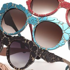 Dolce & Gabbana Green Floral Brocade Sunglasses