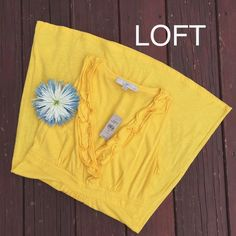 Loft V Neck Ruffle Dress✨NWT Brand new! Small petite! 21 bust flat, approximately 43 inches length total. Perfect for the beach or summer vacations. Please make reasonable offers. LOFT Dresses
