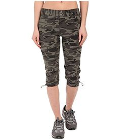 Columbia Women's Saturday Trail Printed Knee Pants, 16 x 18, Gravel Camo Print. For product info go to:  https://all4hiking.com/products/columbia-womens-saturday-trail-printed-knee-pants-16-x-18-gravel-camo-print/