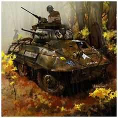 American Armored Car: M8 Greyhound (~dugazm on deviantART)