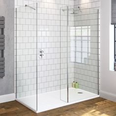 800x900mm Premium Walk Through Shower Enclosure & Side Panel | 8mm - BathEmpire