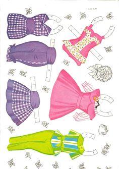 Petite Paper Dolls and Costumes, #4474 Saalfield 1960s (4 of 10)   Bonecas de Papel: Pequenas