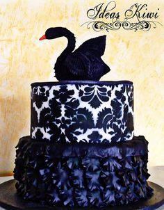 Swan Cake by sandra vidrio, via Flickr