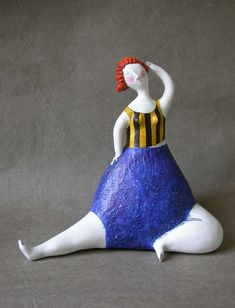 I LOVE these whimsical paper mache figures