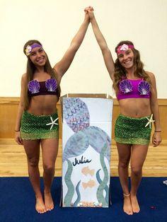 FAU Cheerleaders Big Sis, Little Sis Mermaid theme reveal.