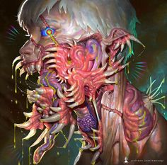 Krustasea by bwusagi on DeviantArt Arte Horror, Horror Art, Creepy Horror, Creepy Art, Art And Illustration, Anime Kunst, Anime Art, Arte Obscura, Goth Art
